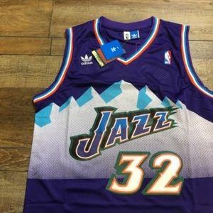 NWT Karl Malone Utah Jazz Adidas NBA Jersey NEW
